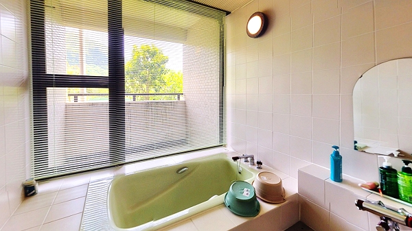 お部屋のお風呂は温泉ではありませんがビューバスです。