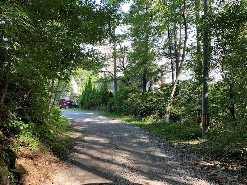 別荘地内の道路は常に、管理の方が手入れをしてくれています。