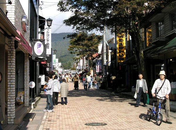 旧軽井沢銀座まで約4.5km