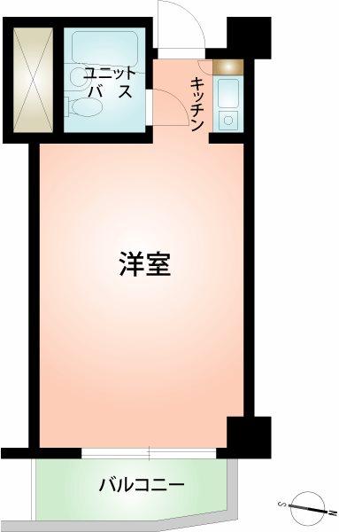 別荘などの一時利用目的に相応しい21.11平米。