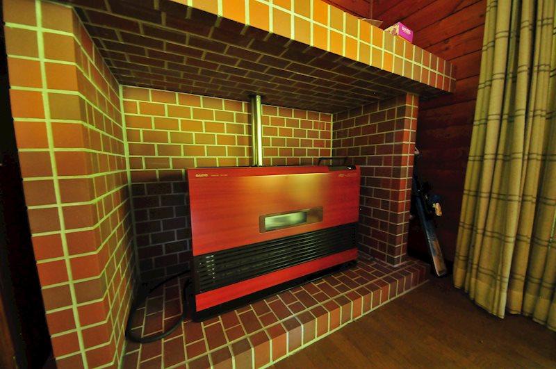 暖房のスペースもオシャレに作られています。
