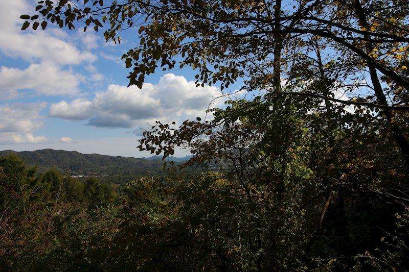 敷地北西角からの眺望です。