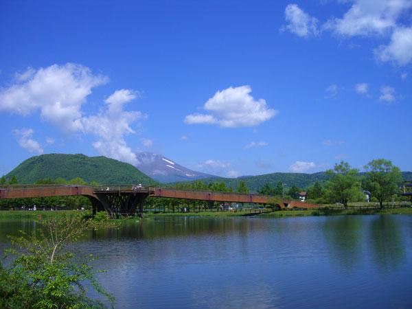 現地へ向かう間には矢ケ崎公園があります。