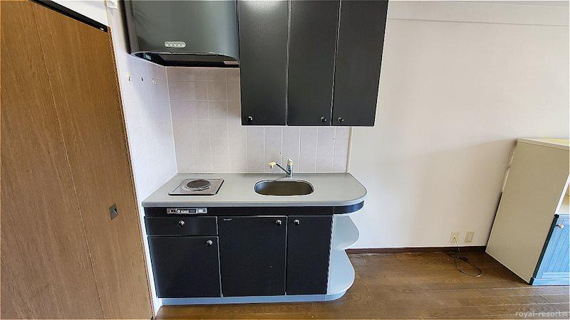 対象不動産にはガス設備はありません。給湯は電気温水器になります。