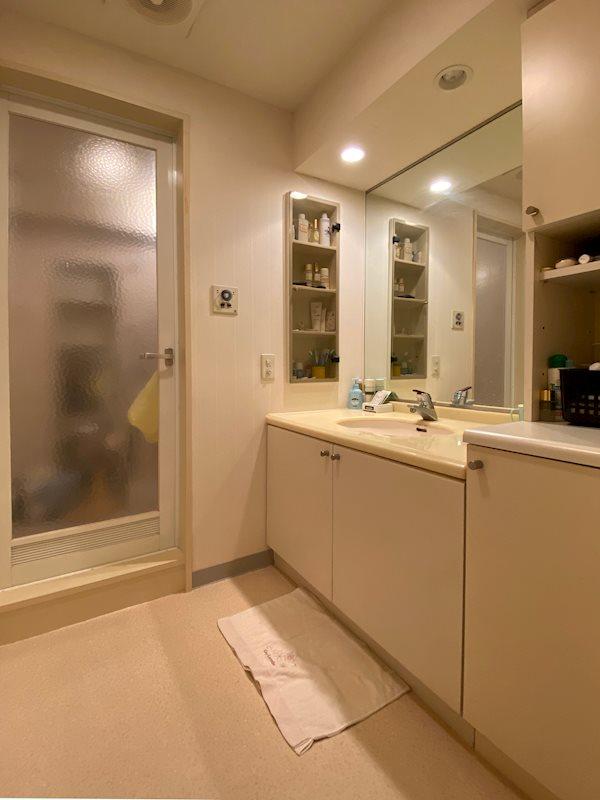 洗面脱衣所です。浴室は物置としてご利用中です。
