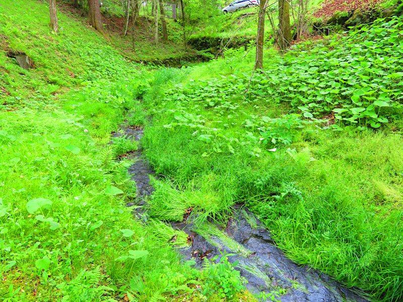 同別荘地でも希少な小川が流れる立地