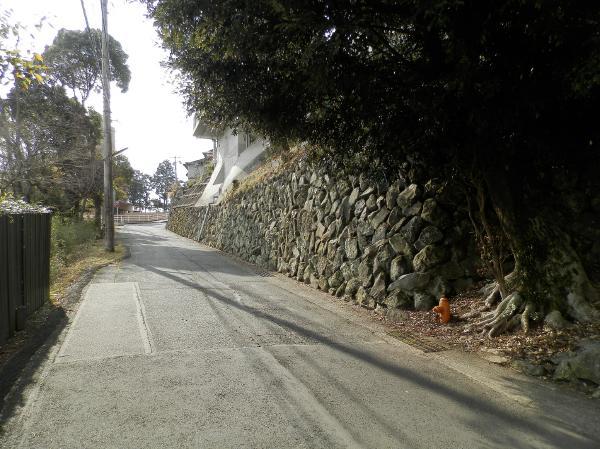 東側前面道路のようす。駅からのアクセスはこちらからの方が良いと思います。
