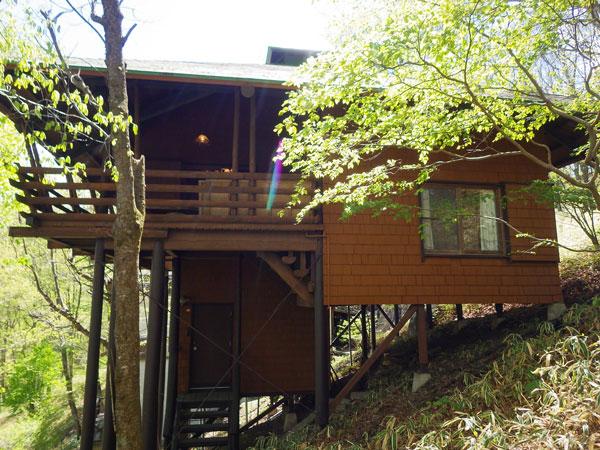 自然豊かで彩り鮮やかな敷地に佇む山荘です!
