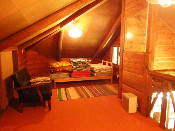 ロフトスペースも広々とした空間です。ベットルームにて十分ご使用できます。