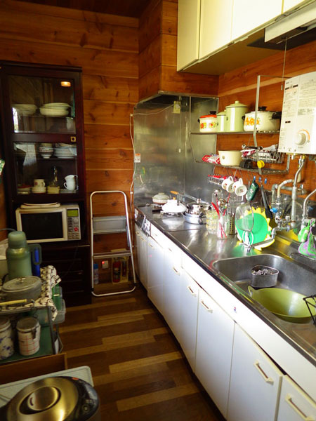 キッチンスペースの様子です。広さも十分です。