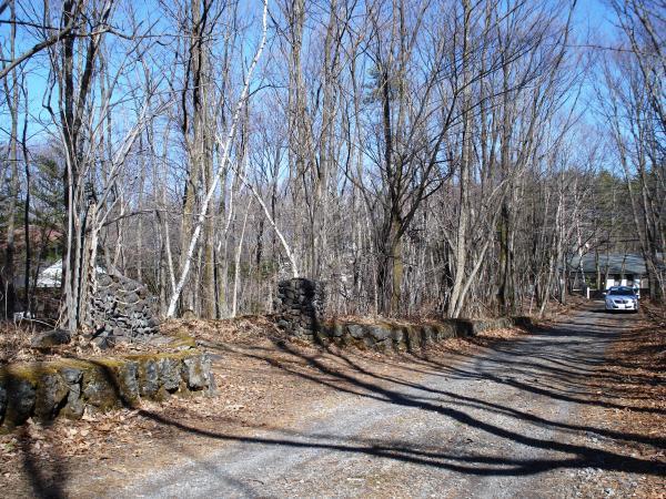 周辺も木々に囲まれた静かな雰囲気。