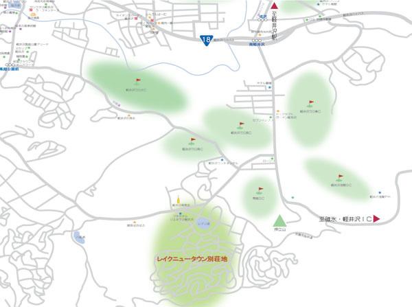 レイクニュータウン別荘地の場所はこちらです。