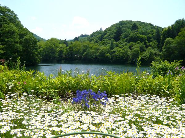 別荘地内にある「八風湖」癒されます。
