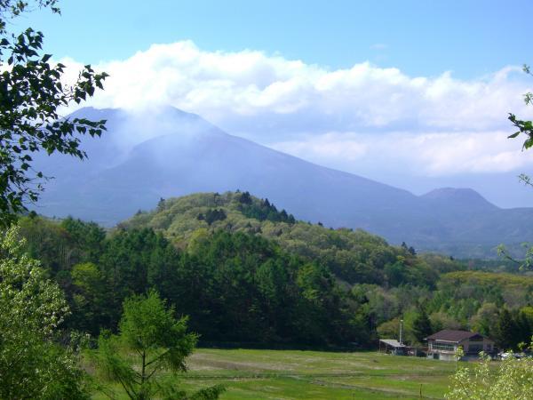 浅間山を望む!