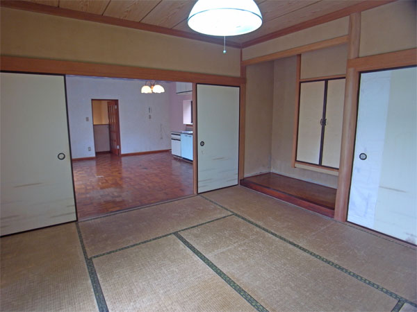 ≪和室≫ 押入・床の間があり、少し広く感じます