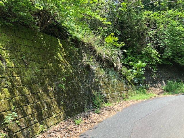 前面道路と擁壁です。
