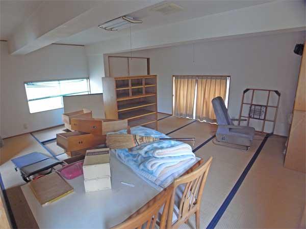 1ルームの約14帖のスペースです。