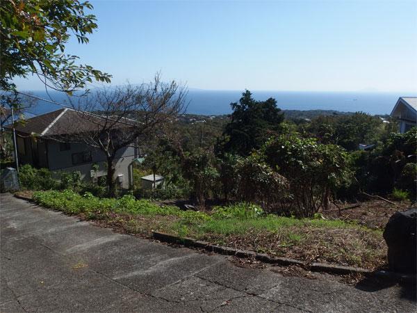 【眺望】伊豆大島を一望する立地です。