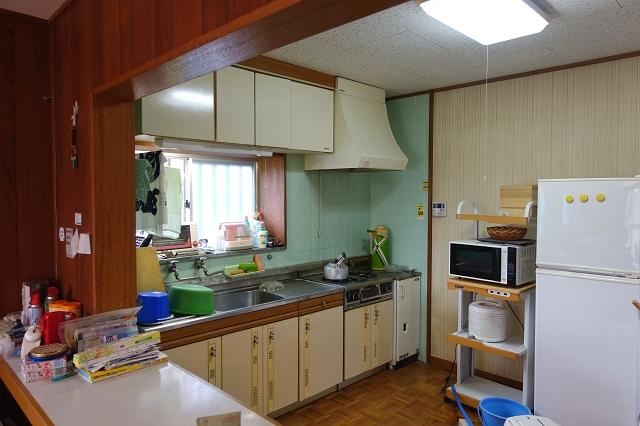 現状のキッチンです。
