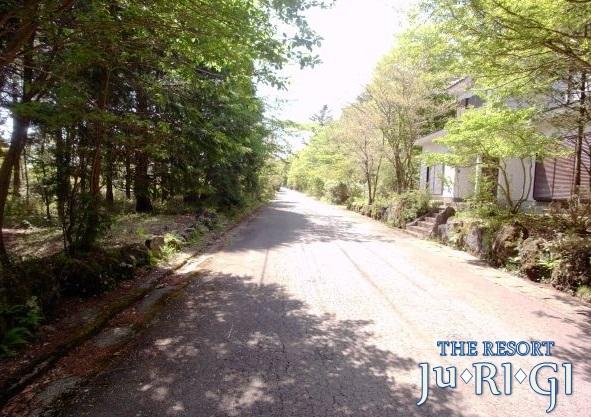 物件の前面道路です。東から撮影しました。物件は写真左側です。
