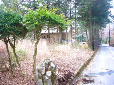 土地は「ひよ鳥坂」という名の道沿いにあります。